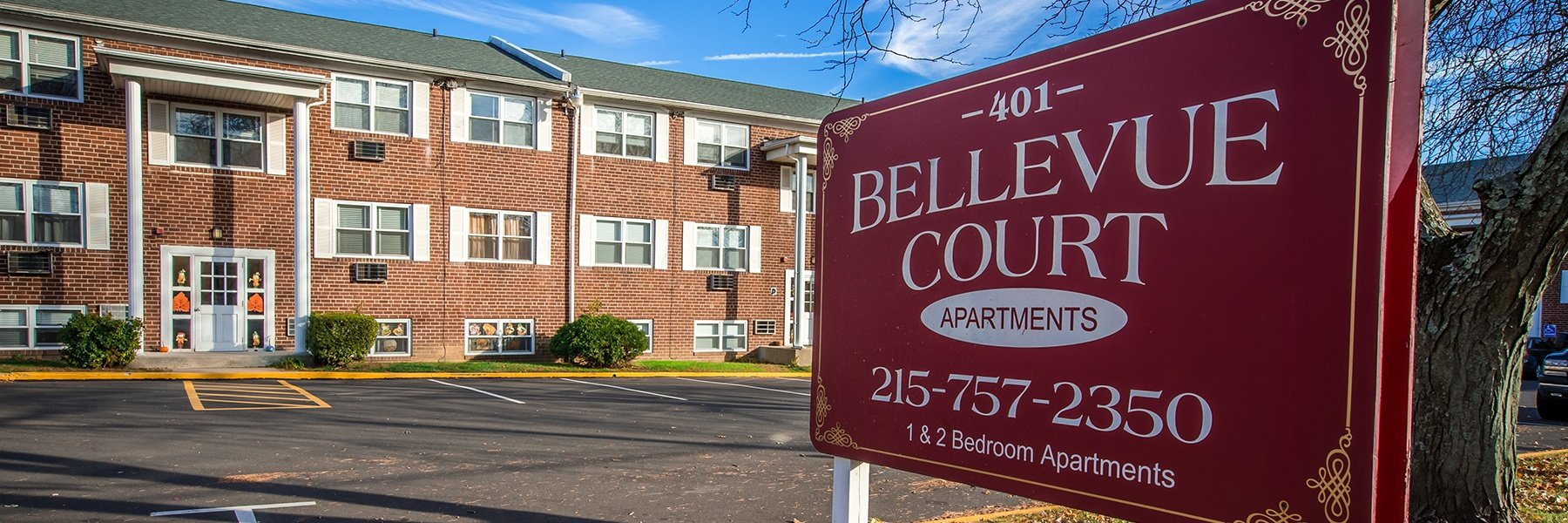 Bellevue Court Apartments For Rent in Penndel, PA Welcome