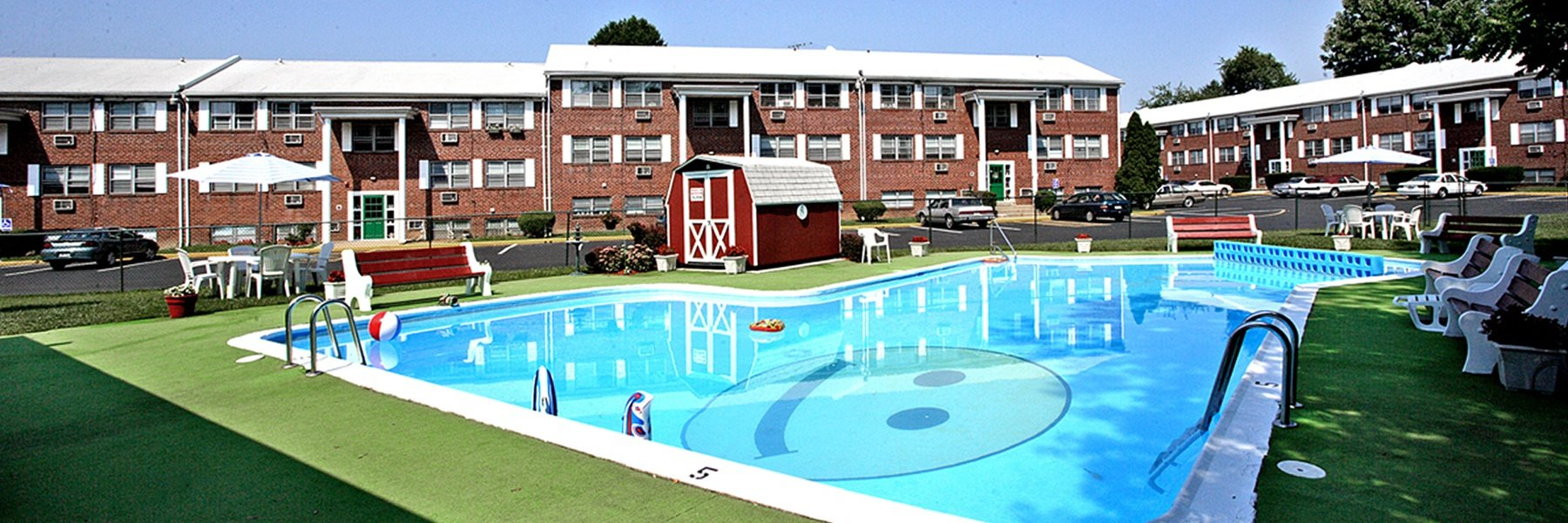 Bellevue Court Apartments For Rent in Penndel, PA Swimming Pool