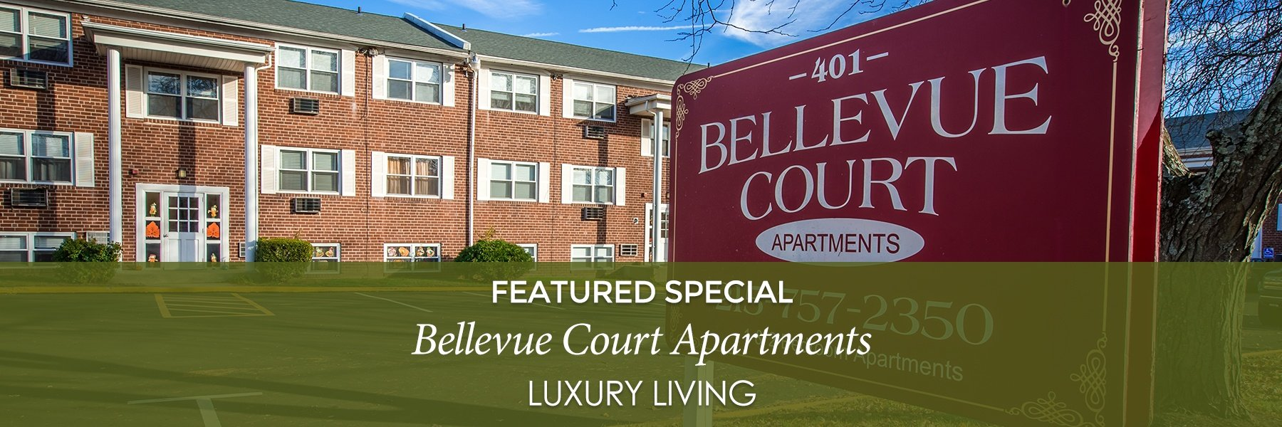 Bellevue Court Apartments For Rent in Penndel, PA Specials